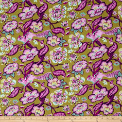 Tula Pink Chipper Chipmunk Raspberry Fabric