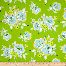 Heather Bailey Nicey Jane Church Flowers Green Fabric