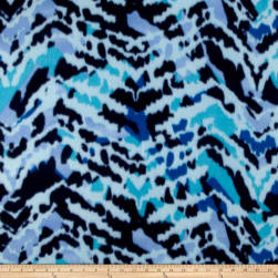 Polar Fleece Print Aberdeen Blue Fabric