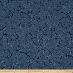 Moda Town Square Wind Swirl Harbor Blue