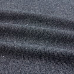 Kaufman Essex Yarn Dyed Linen Blend Metallic Midnight