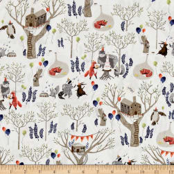 Dear Stella Foxtail Forest Treetop Party Multi Fabric