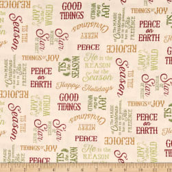Reason For The Season Word Toss Cream Fabric