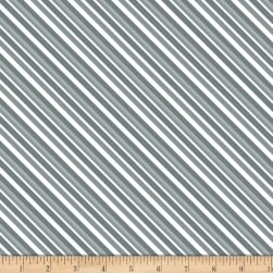 Alpine Stripe Gray Fabric