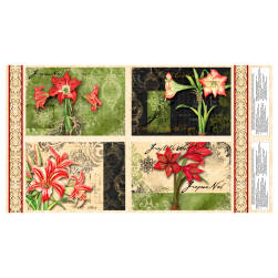 Christmas In Bloom Placemat 24 In. Panel Multi