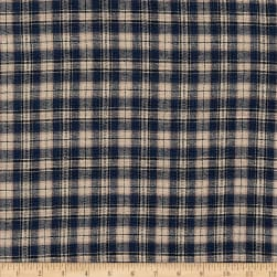 Yarn Dyed Flannel Plaid Navy Khaki