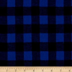 Yarn Dyed Flannel Check Royal Blue Fabric
