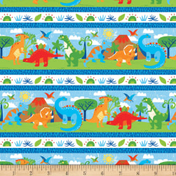 Dandy Dinos Repeating Stripe Multi