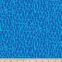 Dandy Dinos Trangles Blue Fabric