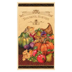 Thankful Harvest Large 24 In. Panel Multi Fabric