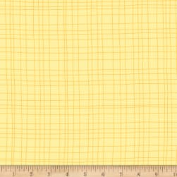 Sweet Meadow Flannel Grids Yellow Fabric