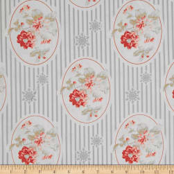 Tanya Whelan Winter Garden Cameo Silver Fabric