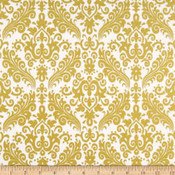 Riley Blake Gold Sparkle Medium Damask Gold