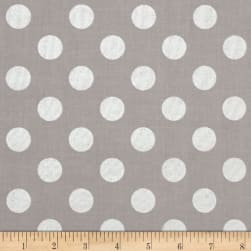 Riley Blake Silver Sparkle Medium Dot Gray Metallic