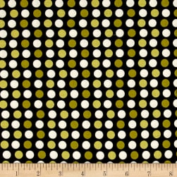 Riley Blake Lost & Found Halloween Dots Green