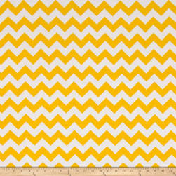 Riley Blake 108'' Wide Medium Chevron Yellow Fabric