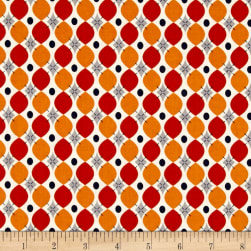 Riley Blake Keep On Groovin' Wallpaper Orange Fabric