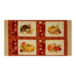 Penny Rose Autumn Hue Panel Red Fabric