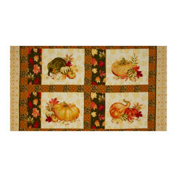 Penny Rose Autumn Hue Panel Green Fabric
