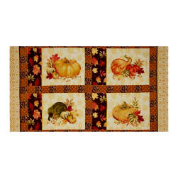 Penny Rose Autumn Hue Panel Maroon Fabric