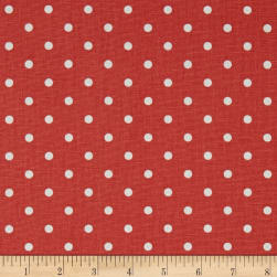 Premier Prints Mini Dot Coral/White Fabric