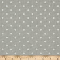 Premier Prints Mini Dot French Grey/White Fabric