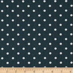 Premier Prints Mini Dot Twill Gunmetal/White Fabric
