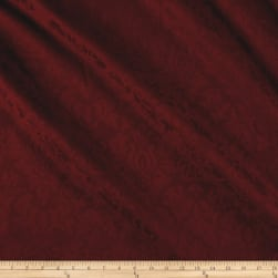 Ansley Home Decor Jacquard Solid Burgundy Fabric