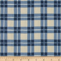Ansley Home Decor Cotton Duck Plaid Blue/Cream Fabric