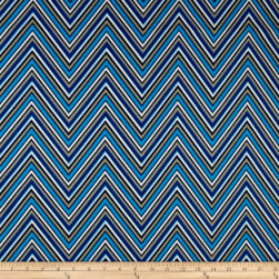 Ansley Home Decor Cotton Duck Chevron Blue