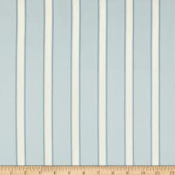 Ansley Home Decor Cotton Duck Stripe Blue/Cream Fabric