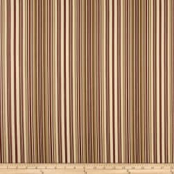 Ansley Home Decor Cotton Duck Stripe Cream Red