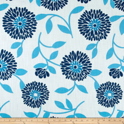 Ansley Home Decor Floral Blue/Cream Fabric