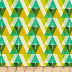 Cotton + Steel Garland Facet Green Fabric