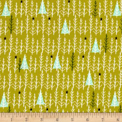 Cotton + Steel Garland Tree Day Green Fabric