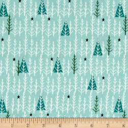 Cotton + Steel Garland Tree Day Mint