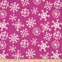 Cotton + Steel Garland Snowflakes Grape Fabric