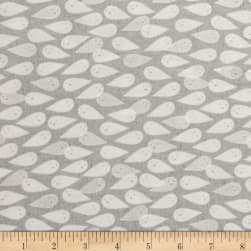 Cotton + Steel Boo Ghosties Natural Pearlescent Fabric