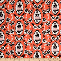 Cotton + Steel Boo Ophelia Coral Fabric