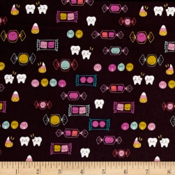Cotton + Steel Boo Happy Candy Grape