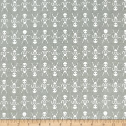 Cotton + Steel Boo Skeleton Dance Natural Fabric