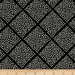 Cotton + Steel Black and White Lattice Dots