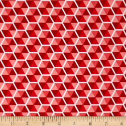 Riley Blake Desert Bloom Hexies Pink Fabric