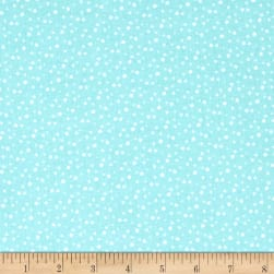 Riley Blake Pixie Noel Snow Aqua Fabric