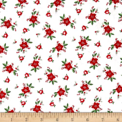 Riley Blake Pixie Noel Floral White Fabric