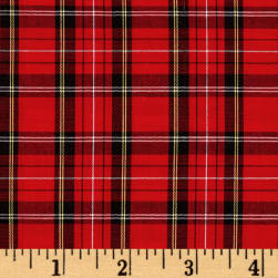 Kaufman Sevenberry Classic Plaids Red Fabric