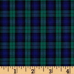 Kaufman Sevenberry Classic Plaids Hunter Fabric