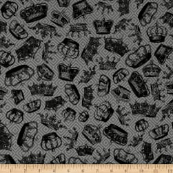 Queen Bee Tossed Crowns Dark Fabric