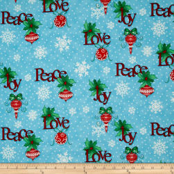 Christmas Wishes Tidings Tumbler Morning Sky Fabric