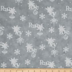 Christmas Wishes Wrapping Paper Mist Fabric
